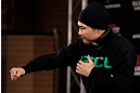 TOKYO, JAPAN - FEBRUARY 28: Takanori Gomi holds an open training session for media at the Hilton Sjinjuku Hotel on February 28, 2013 in Tokyo, Japan. (Photo by Josh Hedges/Zuffa LLC/Zuffa LLC via Getty Images)