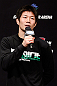 SAITAMA, JAPAN - MARCH 02: Hatsu Hioki interacts with fans during a Q&A session before the UFC on FUEL TV weigh-in at Saitama Super Arena on March 2, 2013 in Saitama, Japan. (Photo by Josh Hedges/Zuffa LLC/Zuffa LLC via Getty Images)