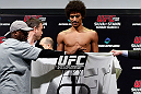 SAITAMA, JAPAN - MARCH 02: Alex Caceres weighs in during the UFC on FUEL TV weigh-in at Saitama Super Arena on March 2, 2013 in Saitama, Japan. (Photo by Josh Hedges/Zuffa LLC/Zuffa LLC via Getty Images)