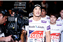 SAITAMA, JAPAN - MARCH 03:  Dong Hyun Kim enters the arena before his welterweight fight against Siyar Bahadurzada during the UFC on FUEL TV event at Saitama Super Arena on March 3, 2013 in Saitama, Japan.  (Photo by Josh Hedges/Zuffa LLC/Zuffa LLC via Getty Images)