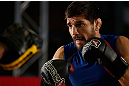 MONTREAL, QC - MARCH 13:  Patrick Cote conducts an open training session for fans and media ahead of his UFC 158 bout at Complexe Desjardins on March 13, 2013 in Montreal, Quebec, Canada.  (Photo by Josh Hedges/Zuffa LLC/Zuffa LLC via Getty Images)
