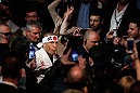 MONTREAL, QC - MARCH 16:  Georges St-Pierre enters the arena before his welterweight championship bout against Nick Diaz during the UFC 158 event at Bell Centre on March 16, 2013 in Montreal, Quebec, Canada.  (Photo by Josh Hedges/Zuffa LLC/Zuffa LLC via Getty Images)