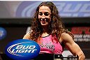 NEWARK, NJ - APRIL 26:   Sara McMann weighs in during the UFC 159 weigh-in event at the Prudential Center on April 26, 2013 in Newark, New Jersey.  (Photo by Josh Hedges/Zuffa LLC/Zuffa LLC via Getty Images)