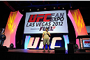 LAS VEGAS, NV - JULY 06:  Randy Couture speaks to fans at the UFC Fan Expo on July 6, 2012 in Las Vegas, Nevada. (Photo by Al Powers /Zuffa LLC/Zuffa LLC via Getty Images) *** Local Caption *** Randy Couture