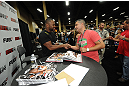 LAS VEGAS, NV - JULY 7:   Rashad Evans meets fans during the UFC Fan Expo at the Mandalay Bay Convention Center on July 7, 2012 in Las Vegas, Nevada.  (Photo by Al Powers/Zuffa LLC/Zuffa LLC via Getty Images)  *** Local Caption ***