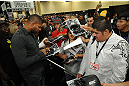 LAS VEGAS, NV - JULY 7:   Alistair Overeem signs autographs during the UFC Fan Expo at the Mandalay Bay Convention Center on July 7, 2012 in Las Vegas, Nevada.  (Photo by Al Powers/Zuffa LLC/Zuffa LLC via Getty Images)  *** Local Caption ***