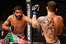 JARAGUA DO SUL, BRAZIL - MAY 18: (L-R) Rafael Natal punches Joao Zeferino in their middleweight bout during the UFC on FX event on May 18, 2013 at Arena Jaragua in Jaragua do Sul, Santa Catarina, Brazil. (Photo by Josh Hedges/Zuffa LLC/Zuffa LLC via Getty Images)