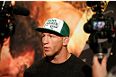 LAS VEGAS, NV - MAY 23:   Gray Maynard interacts with media during the UFC 160 Ultimate Media Day at the MGM Grand Hotel/Casino on May 23, 2013 in Las Vegas, Nevada.  (Photo by Josh Hedges/Zuffa LLC/Zuffa LLC via Getty Images)