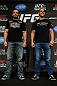 LAS VEGAS, NV - MAY 23:   (L-R) Opponents Glover Teixeira and James Te-Huna pose for photos during the UFC 160 Ultimate Media Day at the MGM Grand Hotel/Casino on May 23, 2013 in Las Vegas, Nevada.  (Photo by Josh Hedges/Zuffa LLC/Zuffa LLC via Getty Images)