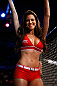 FORTALEZA, BRAZIL - JUNE 08:  UFC Octagon Girl Camila Rodrigues de Oliveira during the UFC on FUEL TV event at Paulo Sarasate Arena on June 8, 2013 in Fortaleza, Ceara, Brazil.  (Photo by Josh Hedges/Zuffa LLC/Zuffa LLC via Getty Images)