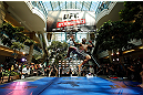 WINNIPEG, CANADA - JUNE 12:  Yves Jabouin holds an open workout session for fans and media at Portage Place on June 12, 2013 in Winnipeg, Manitoba, Canada.  (Photo by Josh Hedges/Zuffa LLC/Zuffa LLC via Getty Images)