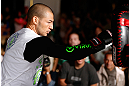 LAS VEGAS, NV - JULY 03:  Cub Swanson holds an open training session for media and fans inside XS The Nightclub at Encore Las Vegas on July 3, 2013 in Las Vegas, Nevada.  (Photo by Josh Hedges/Zuffa LLC/Zuffa LLC via Getty Images)