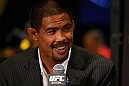 LAS VEGAS, NV - JULY 04:  Mark Munoz interacts with media during the final UFC 162 press conference at the MGM Grand Hotel/Casino on July 4, 2013 in Las Vegas, Nevada.  (Photo by Josh Hedges/Zuffa LLC/Zuffa LLC via Getty Images)
