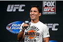 SEATTLE, WA - JULY 26:  Joseph Benevidez interacts with fans during a Q&A session before the official UFC on FOX weigh-in at Key Arena on July 26, 2013 in Seattle, Washington.  (Photo by Jeff Bottari/Zuffa LLC/Zuffa LLC via Getty Images)