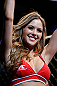 SEATTLE, WA - JULY 27: UFC Octagon Girl Brittney Palmer introduces round one of Castillo vs Means in their lightweight bout during the UFC on FOX event at Key Arena on July 27, 2013 in Seattle, Washington. (Photo by Josh Hedges/Zuffa LLC/Zuffa LLC via Getty Images) *** Local Caption *** Brittney Palmer