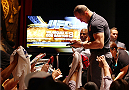 NEW YORK, NY - JULY 31:  UFC fighter Junior Dos Santos interacts with the media during a press conference at Beacon Theatre on July 31, 2013 in New York City.  (Photo by Mike Stobe/Zuffa LLC/Zuffa LLC via Getty Images)