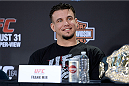 MILWAUKEE, WI - AUGUST 29:  Frank Mir interacts with media during a UFC press conference at the BMO Harris Bradley Center on August 29, 2013 in Milwaukee, Wisconsin. (Photo by Jeff Bottari/Zuffa LLC/Zuffa LLC via Getty Images)