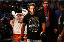 MILWAUKEE, WI - AUGUST 31:  Chad Mendes enters the arena prior to his UFC featherweight bout against Clay Guida at BMO Harris Bradley Center on August 31, 2013 in Milwaukee, Wisconsin. (Photo by Ed Mulholland/Zuffa LLC/Zuffa LLC via Getty Images) *** Local Caption *** Chad Mendes