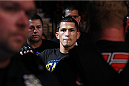 MILWAUKEE, WI - AUGUST 31:  Anthony Pettis enters the arena prior to his fight against Benson Henderson in their UFC lightweight championship bout at BMO Harris Bradley Center on August 31, 2013 in Milwaukee, Wisconsin. (Photo by Ed Mulholland/Zuffa LLC/Zuffa LLC via Getty Images) *** Local Caption *** Anthony Pettis