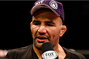 BELO HORIZONTE, BRAZIL - SEPTEMBER 04:  Glover Teixeira is interviewed after knocking out Ryan Bader in their light heavyweight fight during the UFC on FOX Sports 1 event at Mineirinho Arena on September 4, 2013 in Belo Horizonte, Brazil. (Photo by Josh Hedges/Zuffa LLC/Zuffa LLC via Getty Images)