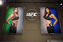 LAS VEGAS, NV - MAY 30:  A general view of photos hanging of the opposing coaches Ronda Rousey and Miesha Tate during filming of season eighteen of The Ultimate Fighter on May 30, 2013 in Las Vegas, Nevada. (Photo by Al Powers/Zuffa LLC/Zuffa LLC via Getty Images)