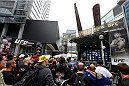 TORONTO, CANADA - SEPTEMBER 20:  A general view of the crowd as UFC middleweight champion Chris Weidman holds a Q&A session before the UFC 165 weigh-in event at Maple Leaf Square outside the Air Canada Centre on September 20, 2013 in Toronto, Ontario, Canada. (Photo by Josh Hedges/Zuffa LLC/Zuffa LLC via Getty Images)