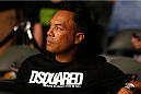 TORONTO, CANADA - SEPTEMBER 21:  Former MLB Toronto Blue Jay Roberto Alomar enjoys the atmosphere at the UFC bantamweight bout between Mitch Gagnon and Dustin Kimura at the Air Canada Center on September 21, 2013 in Toronto, Ontario, Canada. (Photo by Josh Hedges/Zuffa LLC/Zuffa LLC via Getty Images) *** Local Caption *** Roberto Alomar