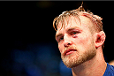 TORONTO, CANADA - SEPTEMBER 21:  Alexander Gustafsson looks on after being defeated by Jon 'Bones' Jones (not pictured) in their UFC light heavyweight championship bout at the Air Canada Center on September 21, 2013 in Toronto, Ontario, Canada. (Photo by Al Bello/Zuffa LLC/Zuffa LLC via Getty Images) *** Local Caption ***  Alexander Gustafsson