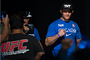 HOUSTON, TX - OCTOBER 18:  Junior Dos Santos walks to the stage to weighs in during the UFC 166 weigh-in at the Toyota Center on October 18, 2013 in Houston, Texas. (Photo by Jeff Bottari/Zuffa LLC/Zuffa LLC via Getty Images) *** Local Caption *** Junior Dos Santos