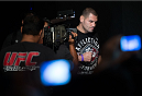 HOUSTON, TX - OCTOBER 18:  UFC heavyweight champion Cain Velasquez walks to the stage during the UFC 166 weigh-in at the Toyota Center on October 18, 2013 in Houston, Texas. (Photo by Jeff Bottari/Zuffa LLC/Zuffa LLC via Getty Images) *** Local Caption *** Cain Velasquez