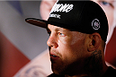 MANCHESTER, ENGLAND - OCTOBER 23:  Ross Pearson interacts with media after the UFC open workouts inside Shooterâs Sports Bar on October 23, 2013 in Manchester, England. (Photo by Josh Hedges/Zuffa LLC/Zuffa LLC via Getty Images)