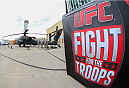 CLARKSVILLE, TN - NOVEMBER 5:  Soldiers work on a helicopter outside the Fort Campbell Sabre Air Field hanger before the UFC Fight For the Troops weigh-in on November 5, 2013 in Clarksville, Tennessee. (Photo by Ed Mulholland/Zuffa LLC/Zuffa LLC via Getty Images)