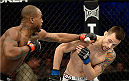 FORT CAMPBELL, KENTUCKY - NOVEMBER 6:  (L-R) Bobby Green punches James Krause in their UFC lightweight bout on November 6, 2013 in Fort Campbell, Kentucky. (Photo by Jeff Bottari/Zuffa LLC/Zuffa LLC via Getty Images) *** Local Caption ***Bobby Green; James Krause