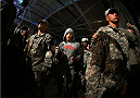 FORT CAMPBELL, KENTUCKY - NOVEMBER 6:  Tim Kennedy walks to the Octagon to face Rafael Natal in their UFC middleweight bout on November 6, 2013 in Fort Campbell, Kentucky. (Photo by Ed Mulholland/Zuffa LLC/Zuffa LLC via Getty Images) *** Local Caption ***Tim Kennedy