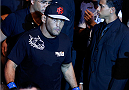 GOIANIA, BRAZIL - NOVEMBER 09: Dan Henderson enters the arena before his light heavyweight bout against Vitor Belfort during the UFC event at Arena Goiania on November 9, 2013 in Goiania, Brazil. (Photo by Josh Hedges/Zuffa LLC/Zuffa LLC via Getty Images)