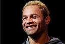 LAS VEGAS, NV - NOVEMBER 14: Josh Koscheck interacts with media during the final UFC 167 pre-fight press conference inside the Hollywood Theatre at the MGM Grand Hotel/Casino on November 14, 2013 in Las Vegas, Nevada. (Photo by Josh Hedges/Zuffa LLC/Zuffa LLC via Getty Images)