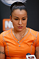 LAS VEGAS, NV - NOVEMBER 27:  The Ultimate Fighter women's bantamweight contender Raquel Pennington interacts with media during media day ahead of The Ultimate Fighter season 18 live finale inside the Mandalay Bay Events Center on November 27, 2013 in Las Vegas, Nevada. (Photo by Josh Hedges/Zuffa LLC/Zuffa LLC via Getty Images)