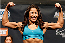 LAS VEGAS, NV - NOVEMBER 29:  Julianna Pena weighs in during the weigh-in for The Ultimate Fighter season 18 live finale inside the Mandalay Bay Events Center on November 29, 2013 in Las Vegas, Nevada. (Photo by Josh Hedges/Zuffa LLC/Zuffa LLC via Getty Images)