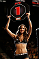 LAS VEGAS, NV - NOVEMBER 30:  UFC Octagon Girl Vanessa Hanson signals the start of round one between Peggy Morgan and Jessamyn Duke in their women's bantamweight fight during The Ultimate Fighter season 18 live finale inside the Mandalay Bay Events Center on November 30, 2013 in Las Vegas, Nevada. (Photo by Josh Hedges/Zuffa LLC/Zuffa LLC via Getty Images) *** Local Caption *** Vanessa Hanson