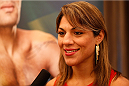 BRISBANE, AUSTRALIA - DECEMBER 05:  Bethe Correia interacts with media during the UFC Ultimate Media Day at the Brisbane Marriott Hotel on December 5, 2013 in Brisbane, Australia. (Photo by Josh Hedges/Zuffa LLC/Zuffa LLC via Getty Images)