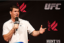 BRISBANE, AUSTRALIA - DECEMBER 06:  UFC middleweight star Michael Bisping interacts with fans during a Q&A session before the UFC Fight Night weigh-in at the Brisbane Entertainment Centre on December 6, 2013 in Brisbane, Australia. (Photo by Josh Hedges/Zuffa LLC/Zuffa LLC via Getty Images)
