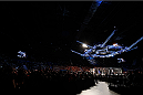"BRISBANE, AUSTRALIA - DECEMBER 07:  A general view of the Octagon as James Te Huna enters before his light heavyweight fight against Mauricio ""Shogun"" Rua during the UFC Fight Night event at the Brisbane Entertainment Centre on December 7, 2013 in Brisbane, Australia. (Photo by Josh Hedges/Zuffa LLC/Zuffa LLC via Getty Images)"
