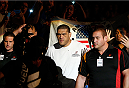 "BRISBANE, AUSTRALIA - DECEMBER 07:  Antonio ""Bigfoot"" Silva enters the arena before his heavyweight fight against Mark Hunt during the UFC Fight Night event at the Brisbane Entertainment Centre on December 7, 2013 in Brisbane, Australia. (Photo by Josh Hedges/Zuffa LLC/Zuffa LLC via Getty Images)"