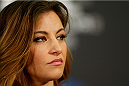 LAS VEGAS, NV - DECEMBER 26:  Miesha Tate interacts with media during the UFC 168 pre-fight press conference at the MGM Grand Hotel/Casino on December 26, 2013 in Las Vegas, Nevada. (Photo by Josh Hedges/Zuffa LLC/Zuffa LLC via Getty Images)