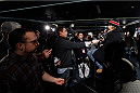 NEW YORK, NY - JANUARY 30:  UFC bantamweight title challenger Urijah Faber interacts with media during the UFC 169 Ultimate Media Day at The Theater at Madison Square Garden on January 30, 2014 in New York City. (Photo by Josh Hedges/Zuffa LLC/Zuffa LLC via Getty Images)