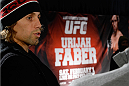 NEW YORK, NY - JANUARY 30:  Urijah Faber speaks with the media during the UFC 169 Ultimate Media Day at The Theater at Madison Square Garden on January 30, 2014 in New York City. (Photo by Jeff Bottari/Zuffa LLC/Zuffa LLC via Getty Images)