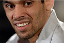 NEW YORK, NY - JANUARY 30:  UFC Bantamweight Champion Renan Barao speaks with the media during the UFC 169 Ultimate Media Day at The Theater at Madison Square Garden on January 30, 2014 in New York City. (Photo by Jeff Bottari/Zuffa LLC/Zuffa LLC via Getty Images)