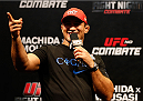 JARAGUA DO SUL, BRAZIL - FEBRUARY 14:  Former UFC heavyweight champion Junior Dos Santos interacts with fans during a Q&A session before the UFC weigh-in at Arena Jaragua on February 14, 2014 in Jaragua do Sul, Santa Catarina, Brazil. (Photo by Josh Hedges/Zuffa LLC/Zuffa LLC via Getty Images)