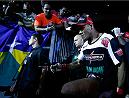 "JARAGUA DO SUL, BRAZIL - FEBRUARY 15:  Ronaldo ""Jacare"" Souza enters the arena before his middleweight fight against Francis Carmont during the UFC Fight Night event at Arena Jaragua on February 15, 2014 in Jaragua do Sul, Santa Catarina, Brazil. (Photo by Josh Hedges/Zuffa LLC/Zuffa LLC via Getty Images)"