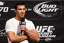 LAS VEGAS, NV - FEBRUARY 21:  UFC middleweight contender Luke Rockhold interacts with fans during a Q&A session before the UFC 170 weigh-in event at the Mandalay Bay Events Center on February 21, 2014 in Las Vegas, Nevada. (Photo by Josh Hedges/Zuffa LLC/Zuffa LLC via Getty Images)